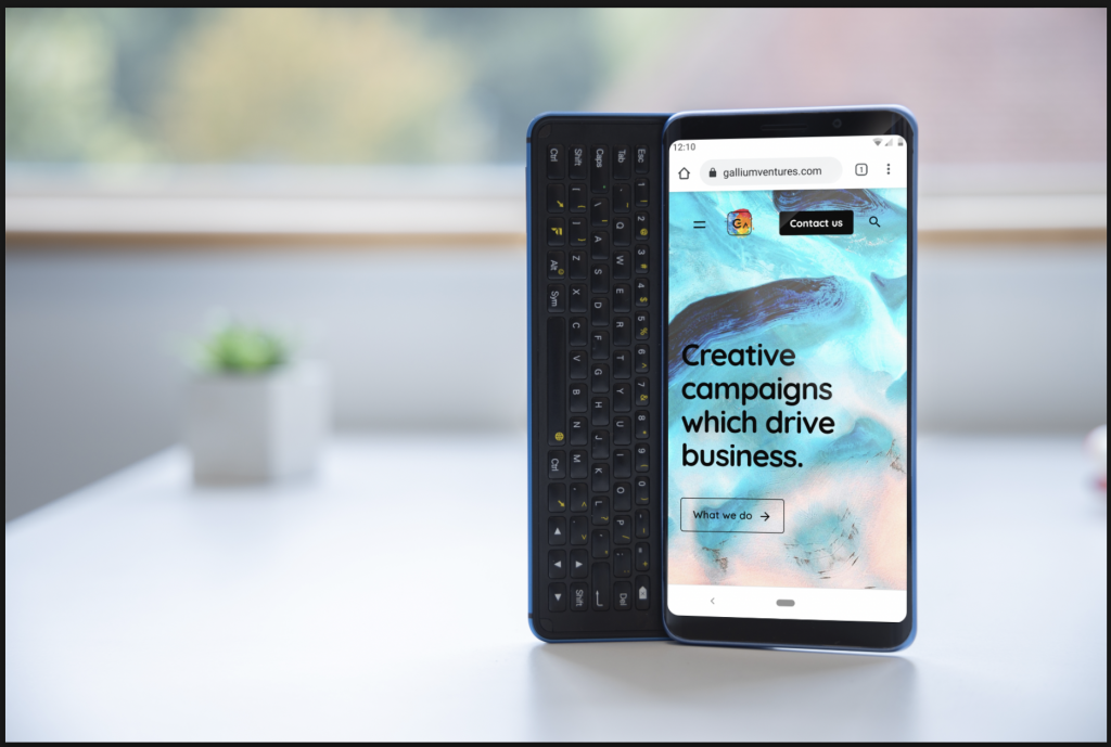 f(x)tec Pro1-X with Gallium Ventures website on screen