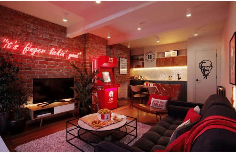 KFC Hotel in London in partnership with Hotels.com